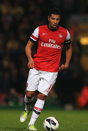 Santos struck Arsenal's equaliser just prior to the interval.