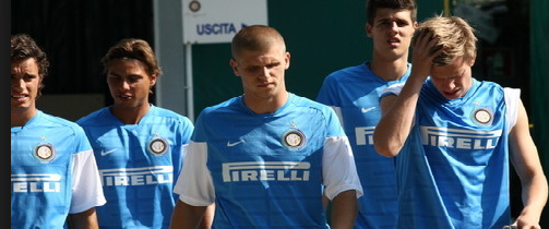 Francesco Forte (centre) will be a threat to the Arsenal goal