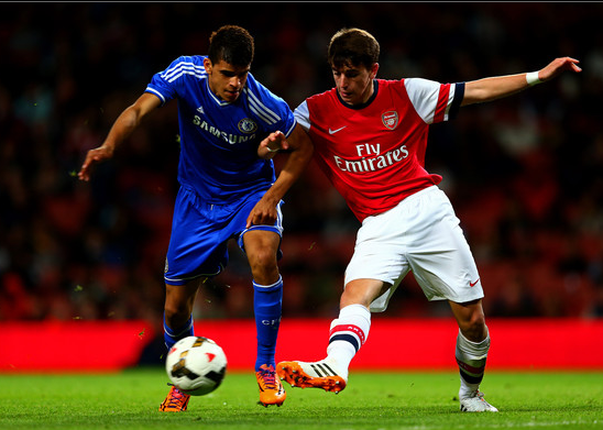 Julio Pleguezuelo in action against Chelsea U18s. Source: Dan Istitene/Getty Images Europe