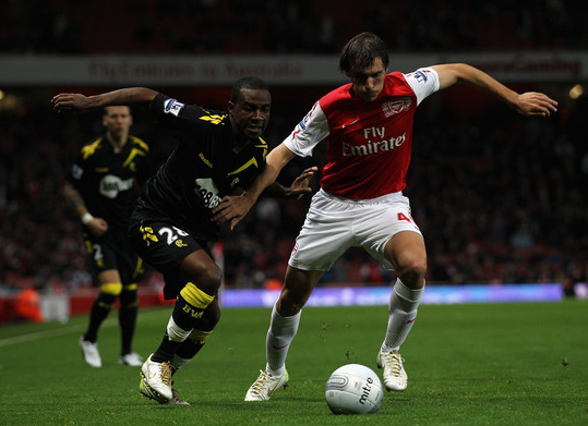 (Zimbio.com) Miquel made four Premier League appearances for Arsenal in the 2011/12 season