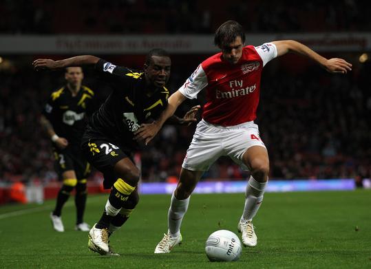 (Zimbio.com) Miquel made four Premier League appearances for Arsenal in the 2011/12 season