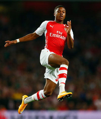 Akpom has now scored 27 goals in 38 appearances for Arsenal U21s  Picture: Getty