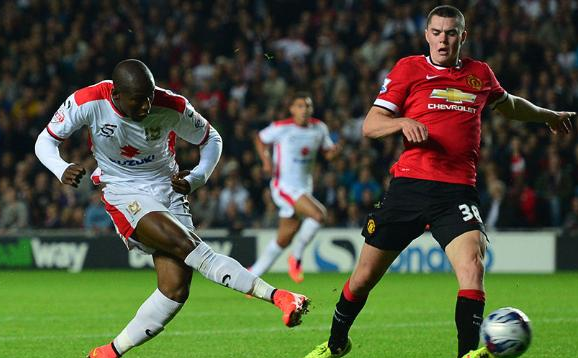 Afobe's goalscoring exploits for MK Dons this season caught the eye