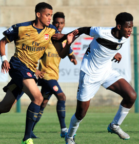Arsenal are waiting to see whether Yassin Fortune will recover in time to play against PSV