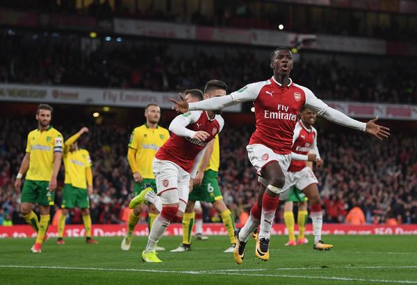 Eddie+Nketiah+Arsenal+v+Norwich+City+Carabao+UIYezeaxtsUl